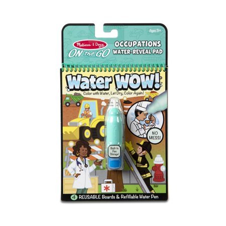 Melissa & Doug On the Go Water Wow! Reusable Water-Reveal Activity Pad –