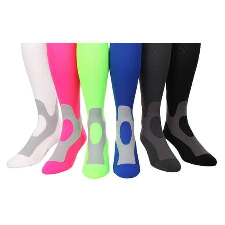 decc4ae727f MoJo Coolmax Sports Compression Socks - Walmart.com