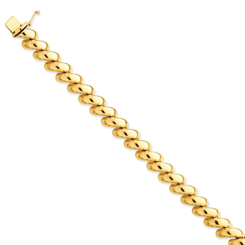 """14K Yellow Gold San Marco Bracelet -7"""" (7in x 12mm) by"""