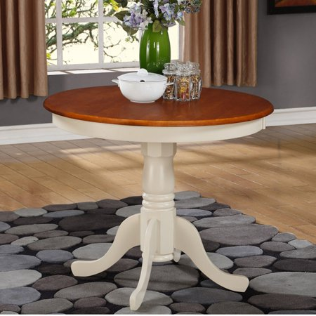 East West Furniture Antique 36 Inch Pedestal Round Dining Table