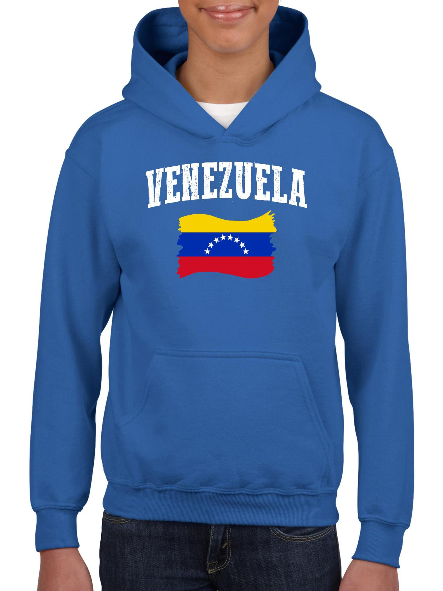 Venezuela Flag Sea Turtle Children Boys Girls Long Sleeve Sweatshirts Hooded Hoodie 2-6T