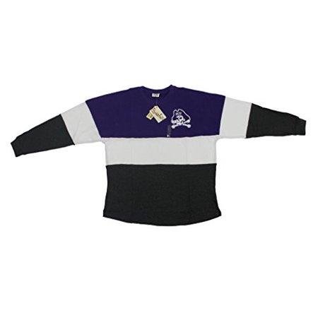 Pressbox Women' s NCAA ECU East Carolina Pirates Varsity Jersey Oversized Sweeper Shirt](Pirate Apparel)
