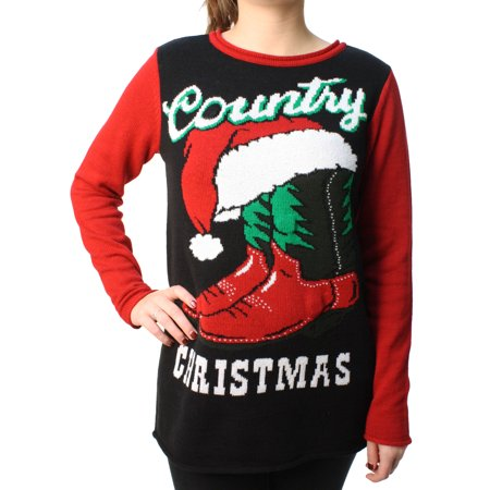 Ugly Christmas Sweater Women's Country Xmas Light Up Pullover Sweatshirt - Ugly Sweater Suit
