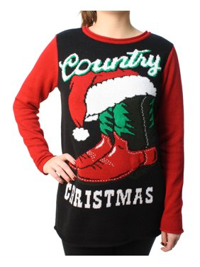 239078e9 Product Image Ugly Christmas Sweater Women's Country Xmas Light Up Pullover  Sweatshirt