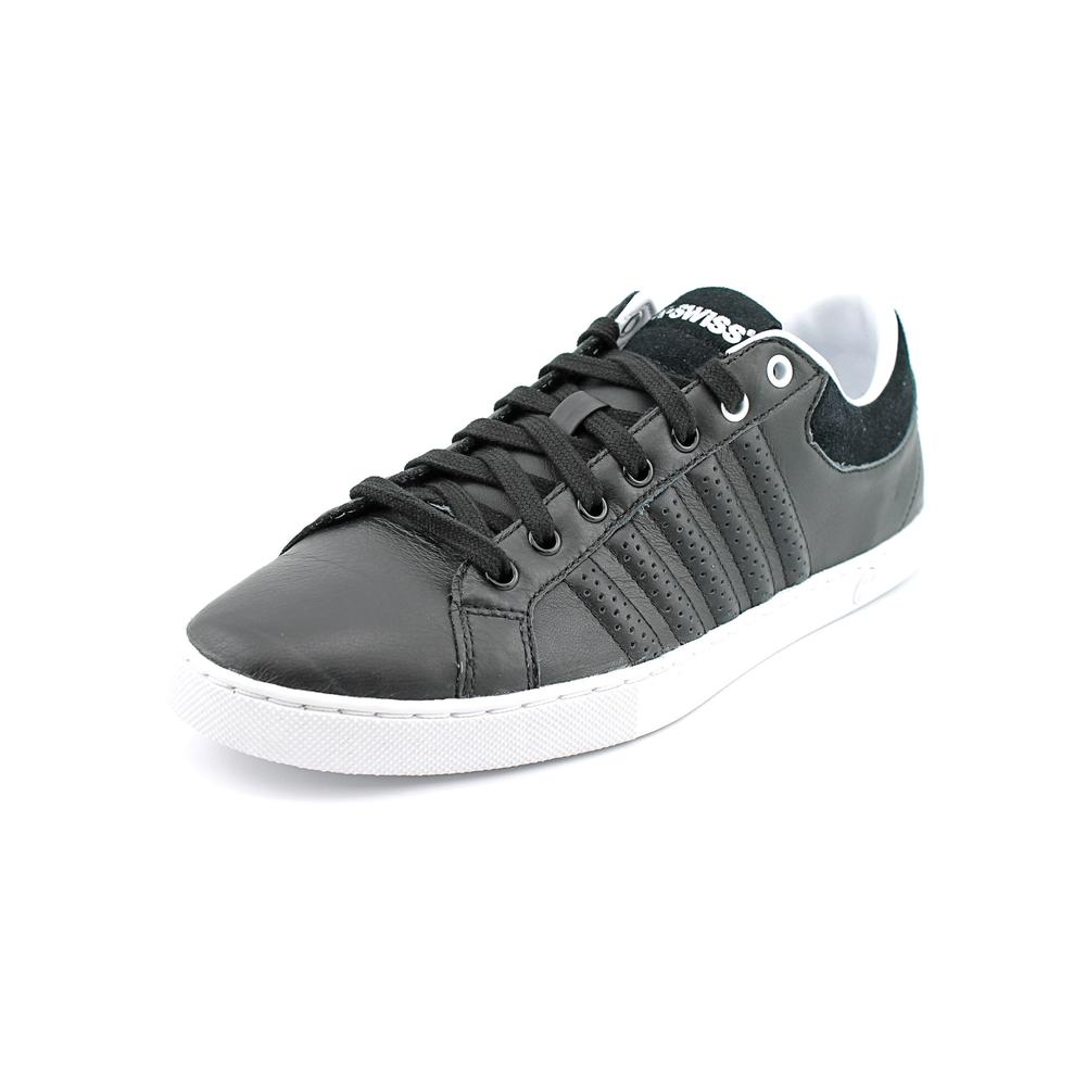 K-Swiss Adcourt '72 Men Round Toe Leather Black Sneakers by K-Swiss