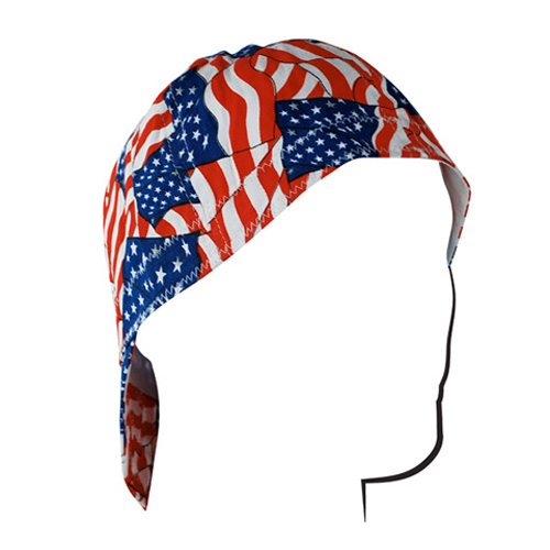 WELDERS CAP, COTTON, WAVY AMERICAN FLAG, SIZE 7.5