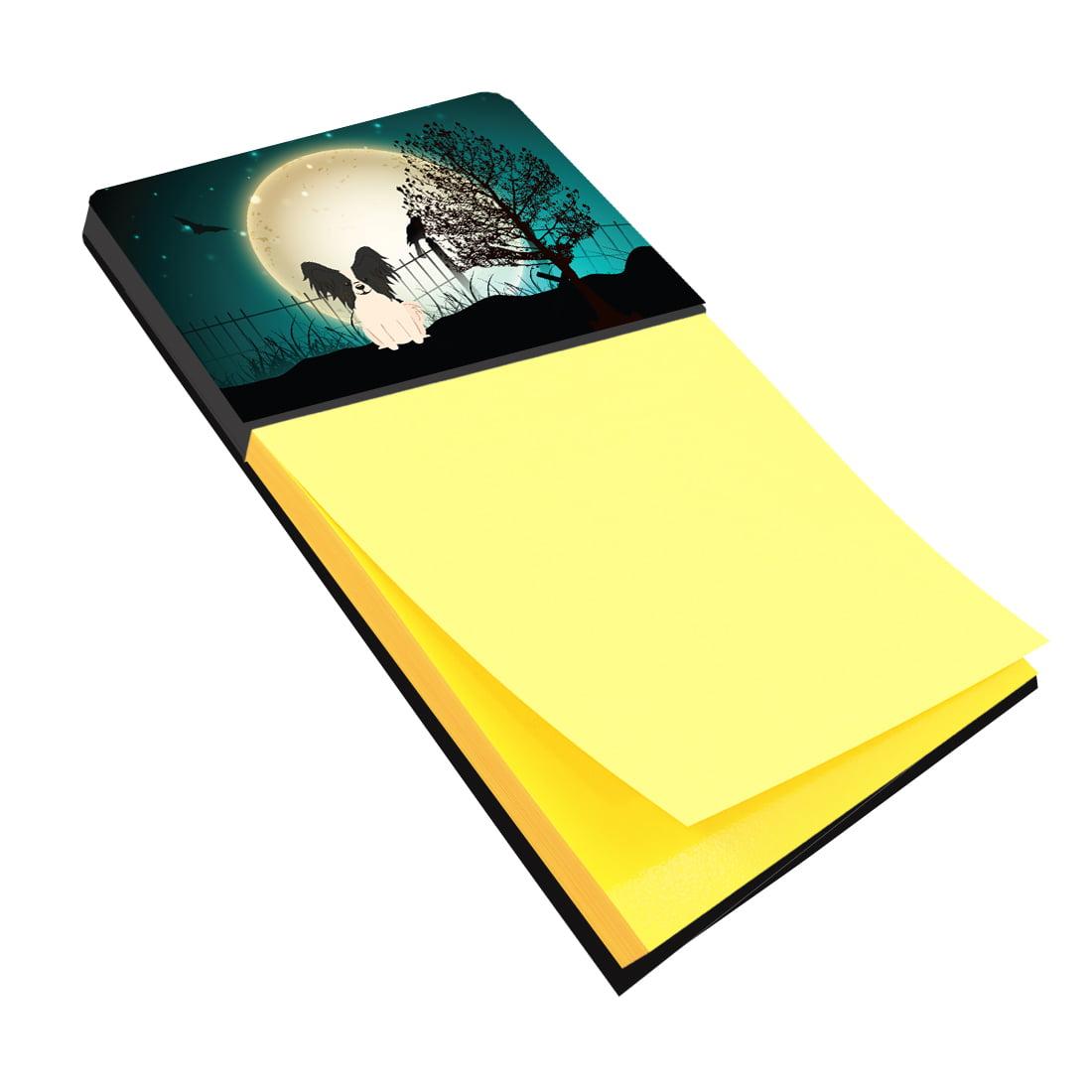 Halloween Scary Papillon Black White Sticky Note Holder BB2266SN