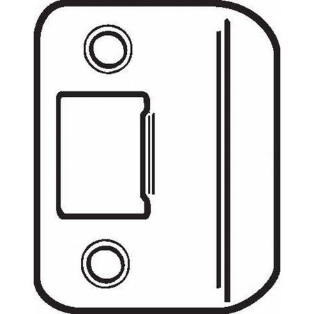 """DON-JO ST214RC 2-1/4"""" by 1-1/4"""" Full Lip Strike Plate with Round Corners"""