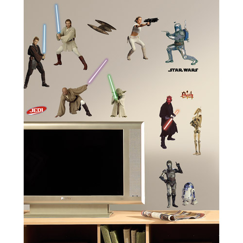 RoomMates Star Wars Episodes 1-3 Peel & Stick Wall Decals