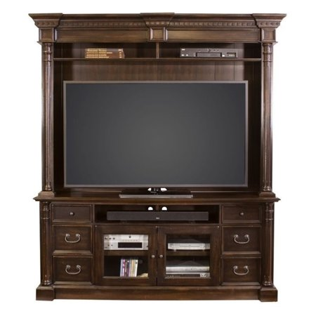 Martin Furniture Wellington Hutch in Dark Cherry