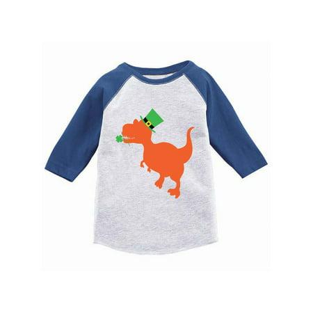 Cw Jersey - Awkward Styles Irish Dinosaur Youth Raglan St. Patrick's Day Jersey Shirt Irish Gifts for Kids Girls Saint Patrick Outfit St. Patrick Tshirt for Boys Dinosaur Jersey Shirt Irish Baseball Shirt