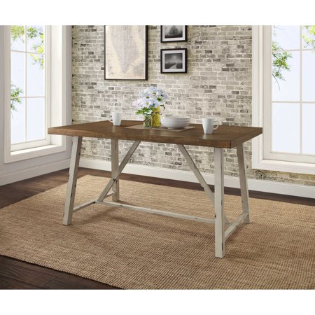 Better Homes and Gardens Collin Wood and Metal Dining - Amish Furniture Dining Table