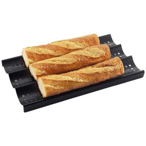 3 Loaf Nonstick Perforated Baguette French Bread Pan Walmart Com Walmart Com