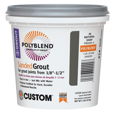 CUSTOM BLDG PRODUCTS Sanded Repair Grout, Natural Gray, 1-Lb. (Gray Sanded Grout)