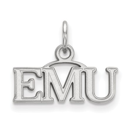 Michigan Outdoor Pendant - Solid 925 Sterling Silver Eastern Michigan University Extra Small Pendant (17mm x 12.5mm)