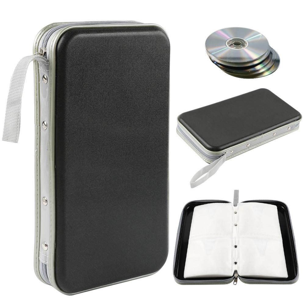 Topeakmart Portable 80 CD Disc Storage Case Bag Heavy Duty CD/ DVD Wallet for Car, Home, Office and Travel
