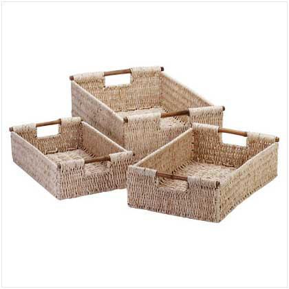 Home Locomotion Corn Husk Nesting Baskets
