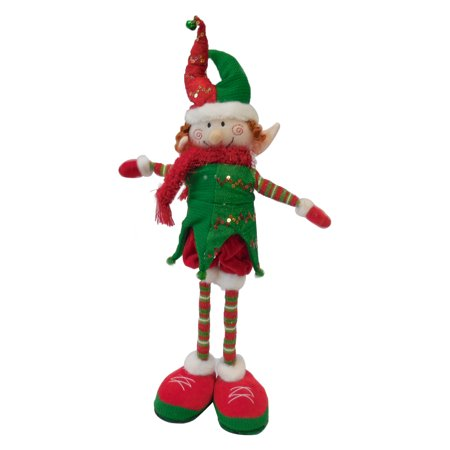 christmas decorations ornament gift animated singing up and down legs stretching elf 20 - Animated Christmas Elves Decorations