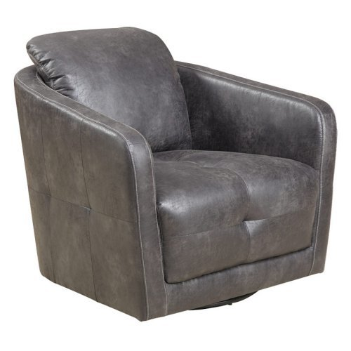 Emerald Home Blakely Swivel Chair - Palance Steel