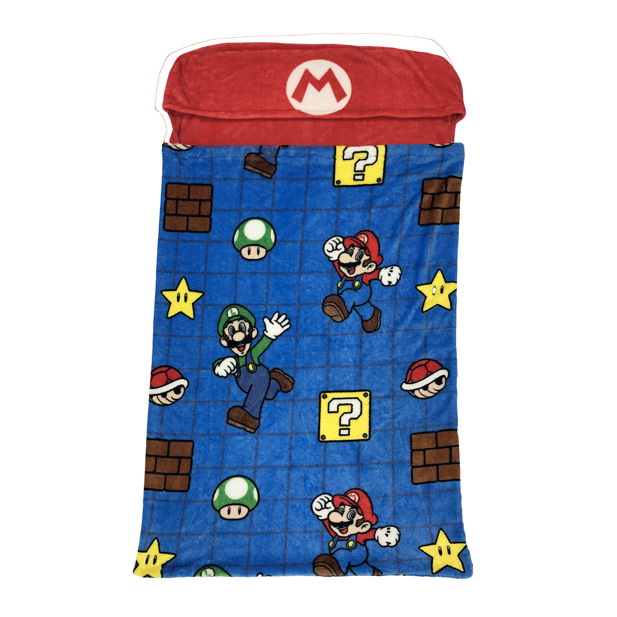 Super Mario Kids Step-In Blanket, 30 x 54, Mario's Voyage