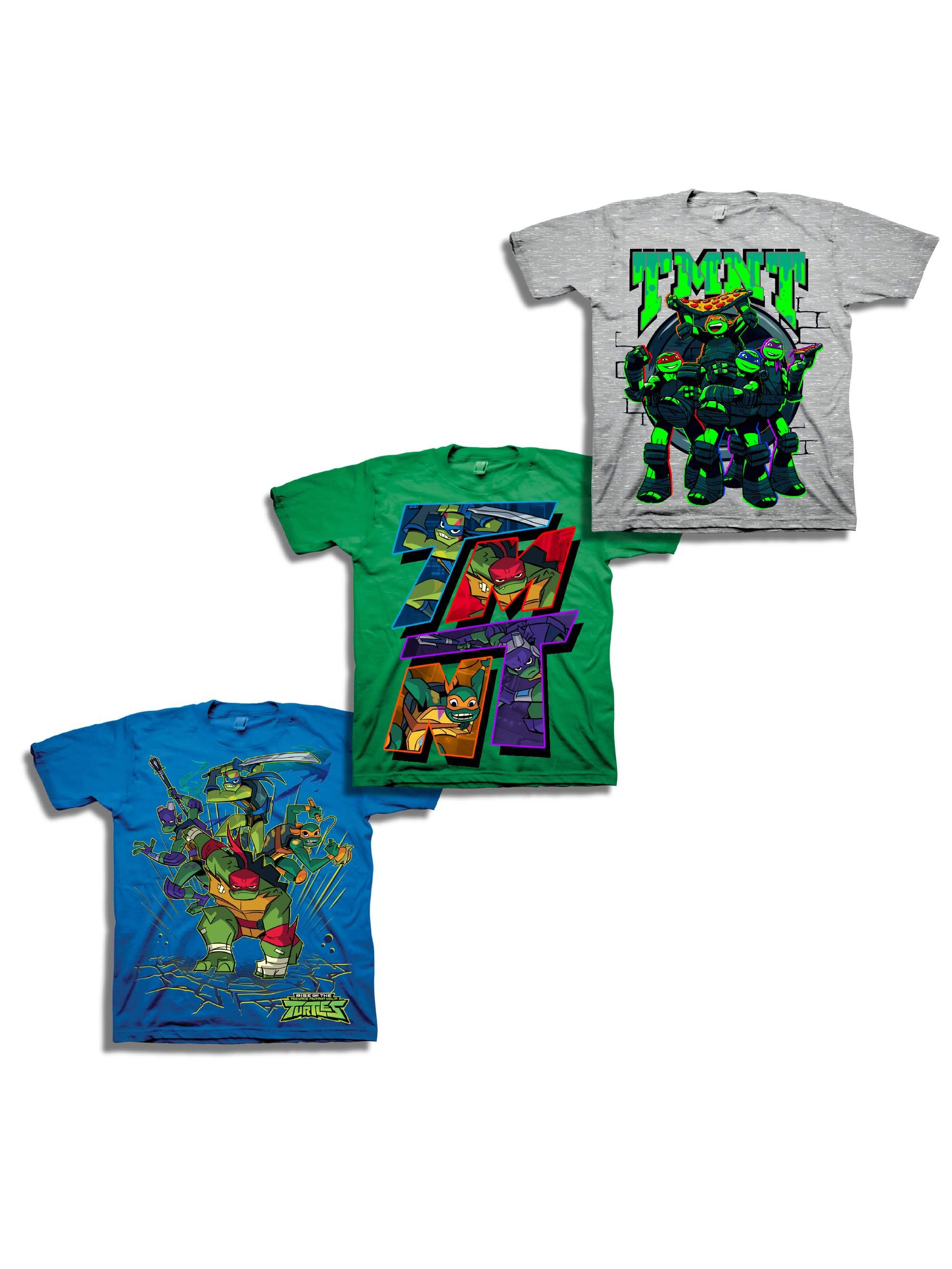 Teenage Mutant Ninja Turtles Short Sleeve Graphic Tee, 3-Pack Set Value Bundle (Little Boys & Big Boys)