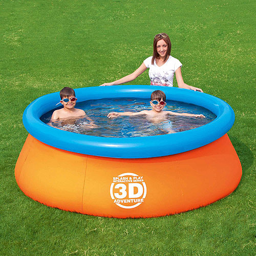 Splash and Play 3D Adventure 7' Easy Fast Set Swimming Pool
