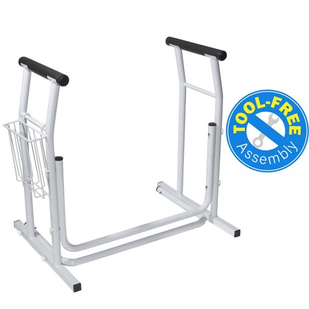 Vaunn Medical Stand-Alone Toilet Safety Frame Rail/Commode Rail