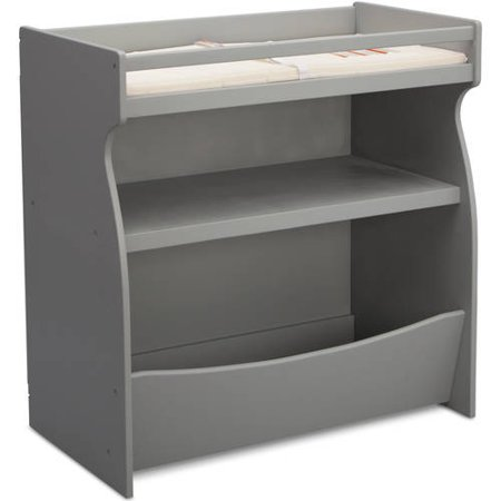 Delta Children Gateway 2 In 1 Changing Table And Storage Unit Gray
