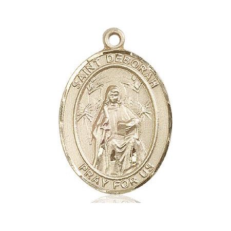 - St. Deborah Patron Saint Medal in 14 KT Gold Filled