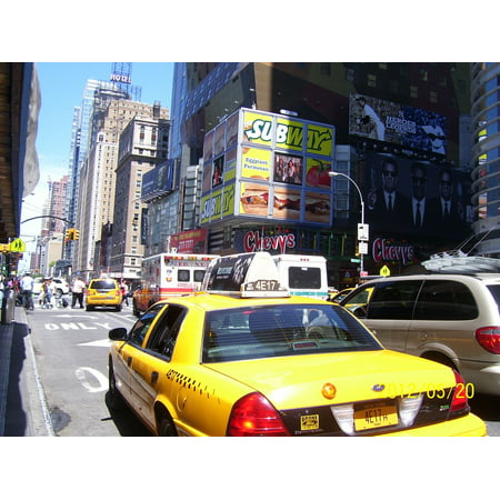 Poster New York Taxi.Laminated Poster New York City Traffic City Taxi Cab Cab New York