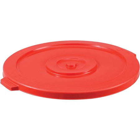 44 Gallon Garbage Can Lid, Red, Lot of