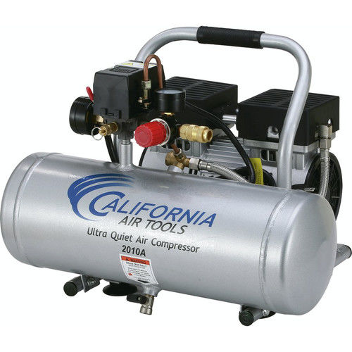 California Air Tools CAT-2010A 1.0HP 2 Gallon Ultra Quiet Aluminum Tank Air Compressor