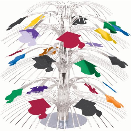 Graduation Cap Mini 8 1/2in Cascade Centerpiece - Cascade Centerpieces