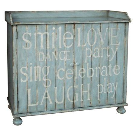 Pulaski Furniture Blue Mesane Wine Cabinet
