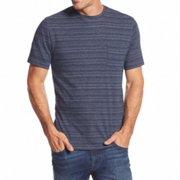 Tasso Elba NEW Navy Blue Mens Size Medium M Striped Chest Pocket Tee Shirt