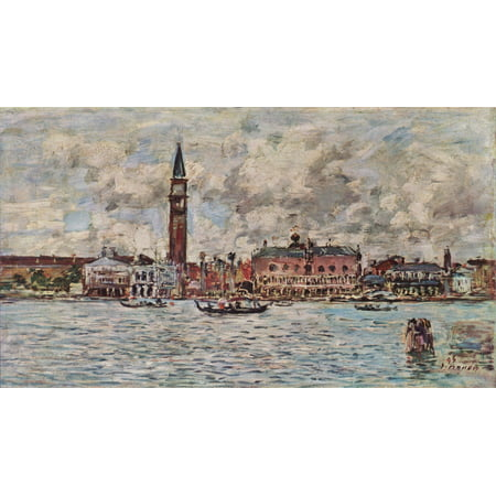 Framed Art for Your Wall Boudin, Eugène - Piazzetta San Marco in Venice 10 x 13 (San Marco Venice)