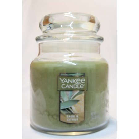 Yankee Candle Medium Perfect Pillar Scented Candle, Sage/citrus