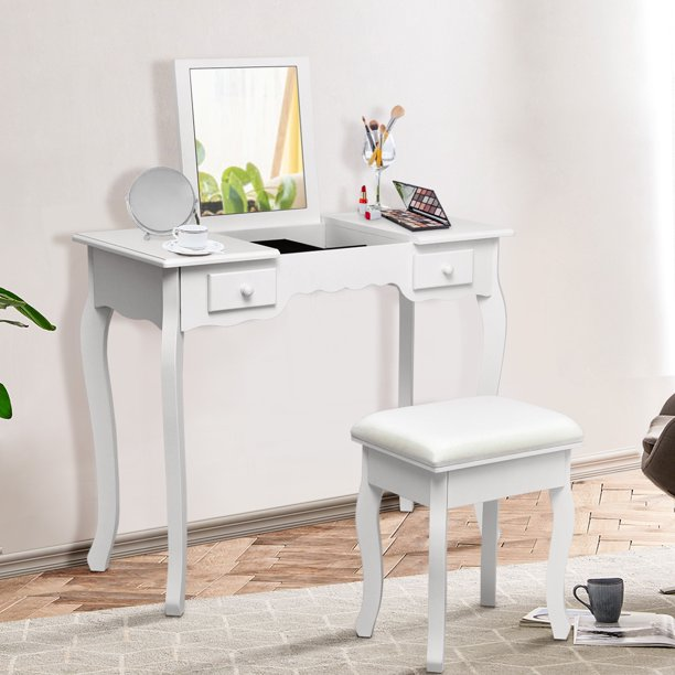 Costway Vanity Dressing Table Set