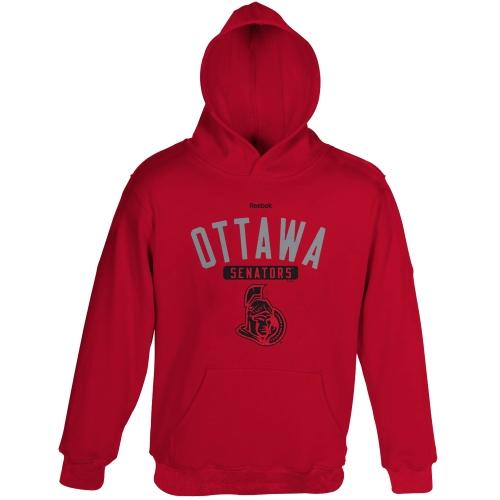 Reebok Ottawa Senators Youth Acquisition Fleece Pullover Hoodie - Red