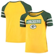 Girls Youth Gold Green Bay Packers Burn Out T-Shirt