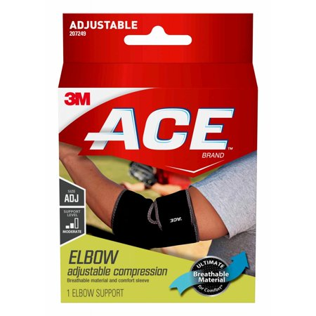 ACE Brand Neoprene Elbow Support, Adjustable, Black, (Best Elbow Support Brace)
