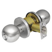CORBIN CK4251 GRC 626 Door Knob Lockset, Round, Satin Chrome