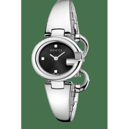 6c5dc092106 Gucci - ssima YA134501 Black Dial Stainless Steel Women s Watch -  Walmart.com