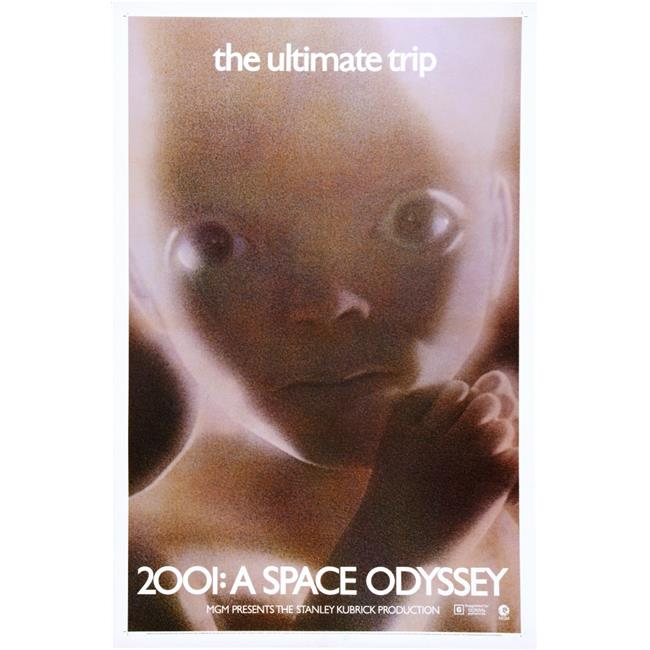 Everett Collection EVCMCDTWTHEC017HLARGE 2001 - A Space Odyssey US Poster 1968 Movie Poster Masterprint, 24 x 36 - Large