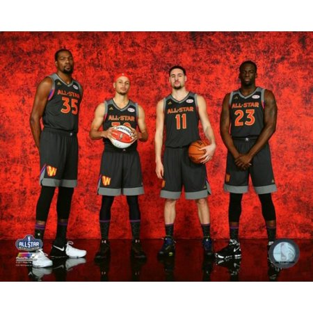 Kevin Durant Stephen Curry Klay Thompson & Draymond Green 2017 NBA All-Star Game Photo Print