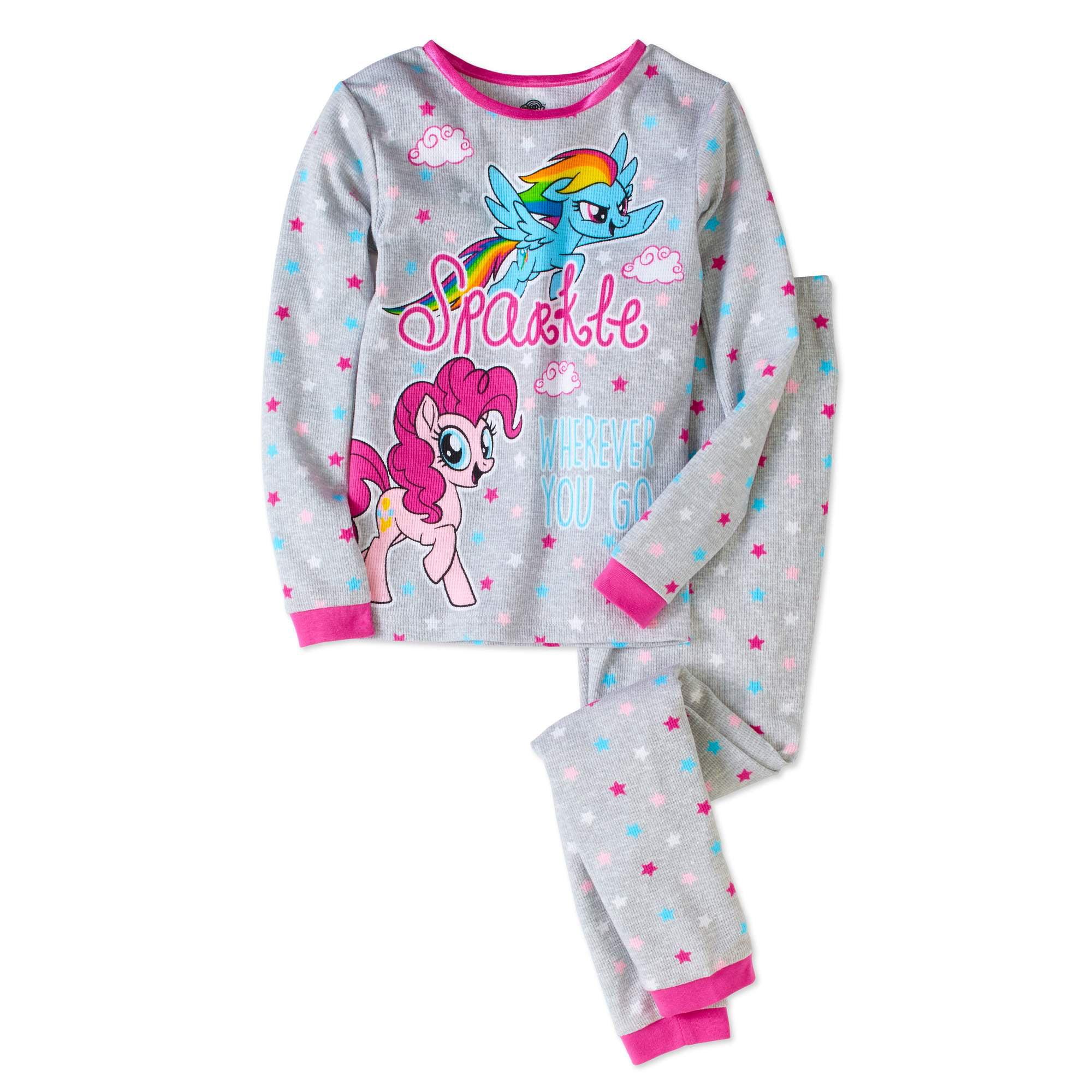 Generic My Little Pony Girls' Cotton Thermal Underwear 2pc Set