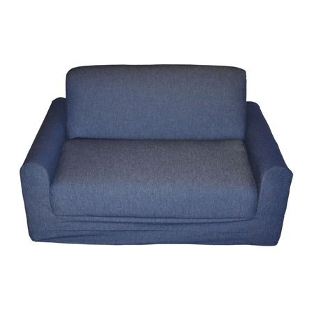 Description Kid S Denim Sofa Sleeper With Pillows For 260 48 Click To Check Latest Price