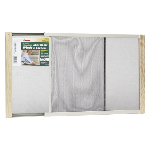 "Wood Frame Adjustable Window Screen, 15"" x 37"