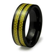 EWC R40001-090 Ceramic Ring with Carbon Fiber Inlay - Size 9