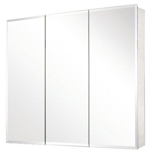 ... Pegasus Tri-View Beveled Mirror 36W x 31H in. Medicine Cabinet SP4589
